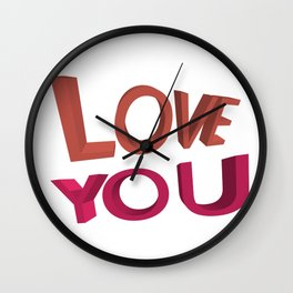Love you 3D Wall Clock