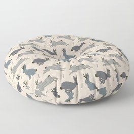 Jackalope Snow Parade Floor Pillow