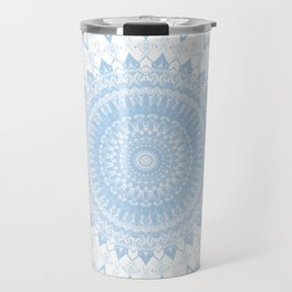 Baby Blue Boho Mandala Travel Mug