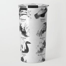 Hand Shadows Travel Mug