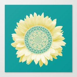 Sunflower Mandala Canvas Print