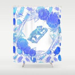 Australian Native Floral Print with Koala Shower Curtain