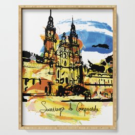 santiago  camino Serving Tray
