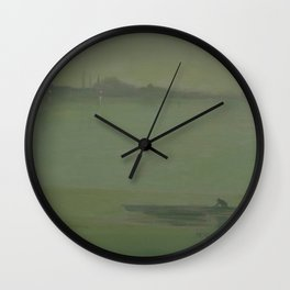 Thames Nocturne by James McNeill Whistler Wall Clock