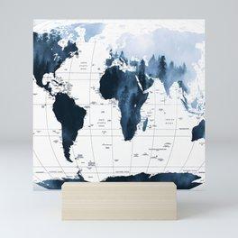 ALLOVER THE WORLD-Woods fog map Mini Art Print