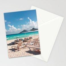 Blue Umbrellas under Blue Skies Stationery Cards