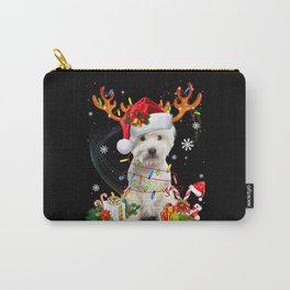 Funny Westie Christmas Tree Reindeer Carry-All Pouch