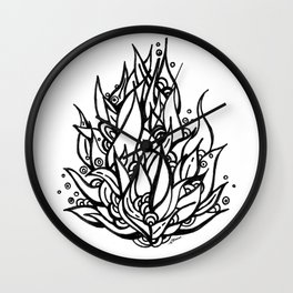 Planta Loca Wall Clock