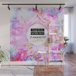 Watercolor Pastel Boho Dynamite and Glitter Wall Mural