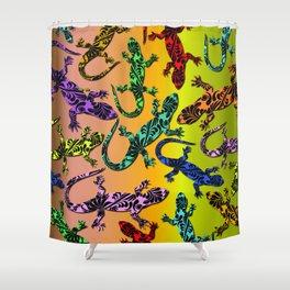 Gecko Deco Pattern Shower Curtain