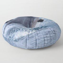Bottenose dolphin Floor Pillow