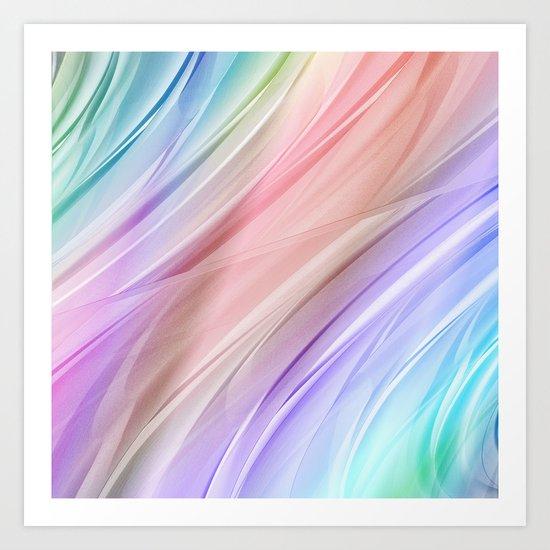 Color gradient 26 Art Print