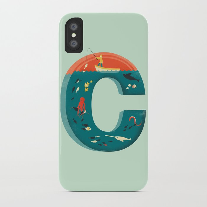 Plenty of fish in the c blue iphone case by jayfleck for Plenty of fish contact