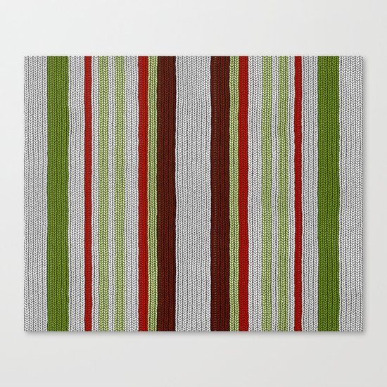 Knitted Colors - Digital Work Canvas Print