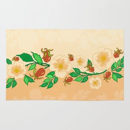 Abstract roses background Rug