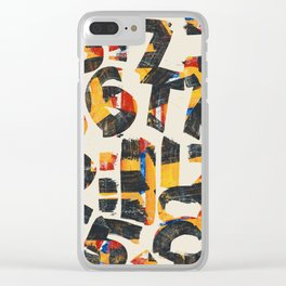 Pattern Number 24 Clear iPhone Case