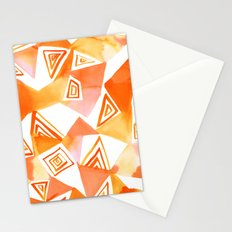 Geo Triangle Orange Stationery Cards