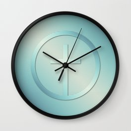 Retro Cross Emblem Graphic Wall Clock