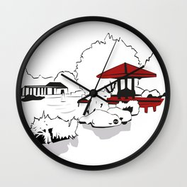 Jardin Japonais Wall Clock