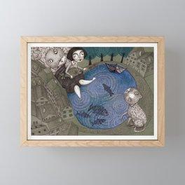 The Fish Pond Framed Mini Art Print
