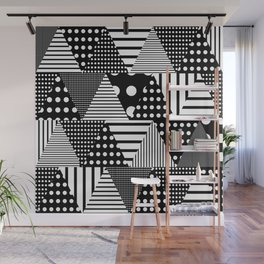 Triangles Patchwork #2 Wall Mural