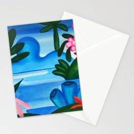Classical Masterpiece 'The Lake' by Tarsila do Amaral Stationery Cards