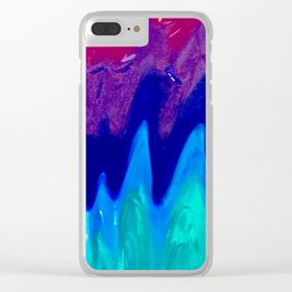 Trippy Rainbow Clear iPhone Case