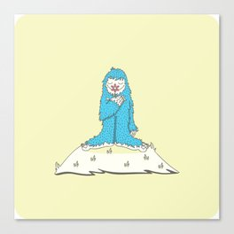 Leon the friendly Yeti Canvas Print