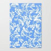 cherry blossom Canvas Prints featuring Cherry Blossom by Elena O'Neill