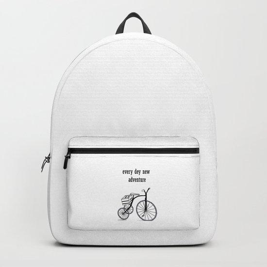 Every day a new adventure . Bike on 3 wheels Backpack
