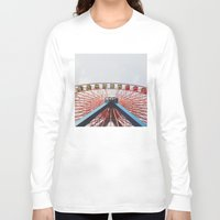 ferris wheel Long Sleeve T-shirts featuring Ferris Wheel by Devin Fernandez