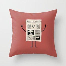 Bad News Throw Pillow