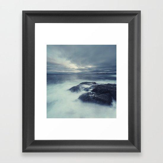 Washed in Atlantic Framed Art Print