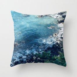 Tropical Paradise Pacific Ocean Cove Throw Pillow
