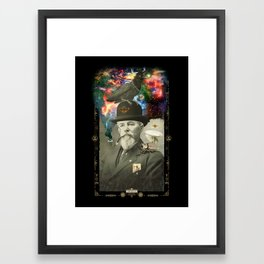 Odd Scientist Framed Art Print
