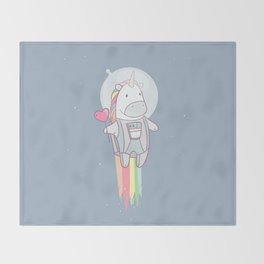 Space Unicorn! Throw Blanket