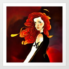Clary Fray from The Mortal Instruments by Cassandra Clare Art Print