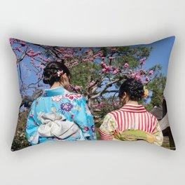 Kimono Girls in Nature Rectangular Pillow