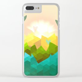Heart's Rising Clear iPhone Case