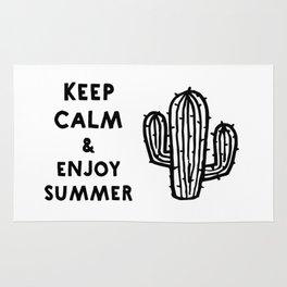 Keep calm & enjoy summer / cactus Rug