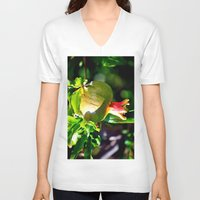 pomegranate V-neck T-shirts featuring pomegranate by  Agostino Lo Coco