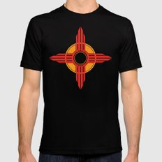 New Mexico Zia - Red X-LARGE Mens Fitted Tee Black