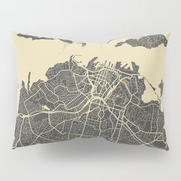 Auckland Map Pillow Sham