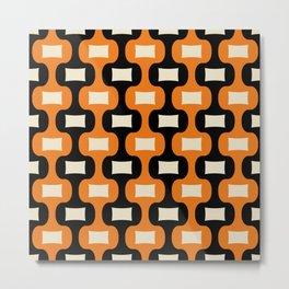 Colorful Mid Century Modern Ogee Pattern 355 Metal Print