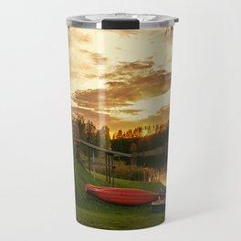 Sunset at Lakeside Lodge Travel Mug