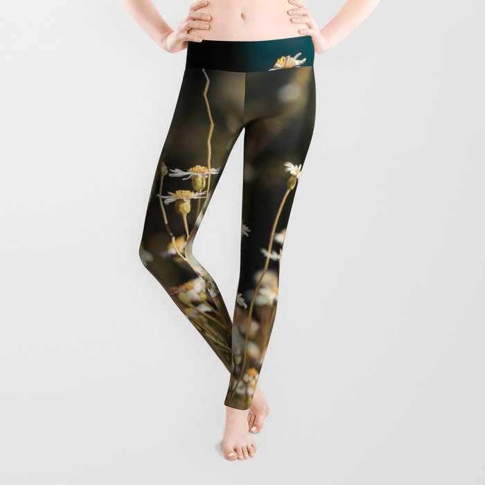 Field of Daisies - Floral Photography #Society6 Leggings