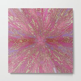 Sinking In The Pink Metal Print