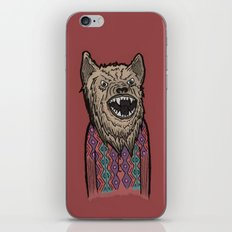 Hipster Wolf iPhone & iPod Skin