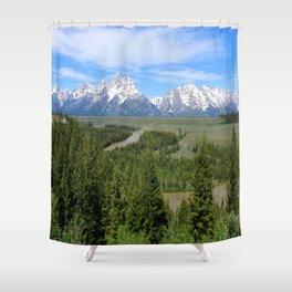 Snake River And The Grand Tetons Shower Curtain