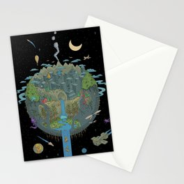 Carved Planet Stationery Cards